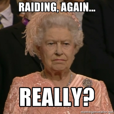 The Queen disapproves